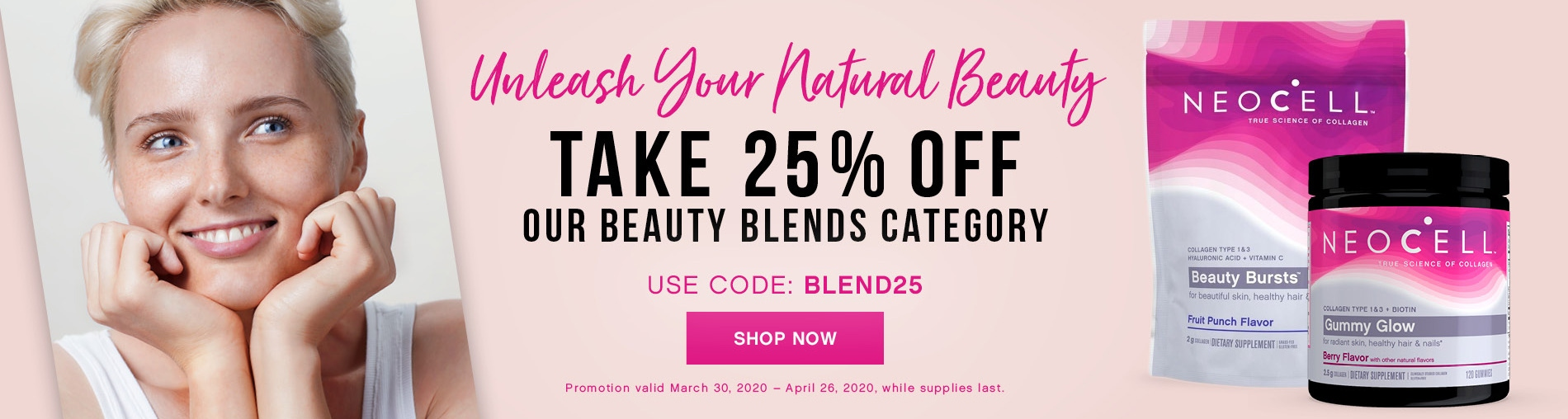 Unleash Your Natural Beauty! Take 25% OFF Our Beauty Blends Category. Use Code BLEND25. Shop Now!