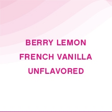 Lemon, Vanill, and Unflavored